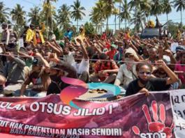 Student protest in Manokwari against Otsus 21052021