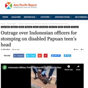 Screenshot of Indonesian assault on deaf Papuan