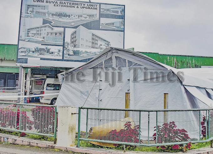 A tent at CWM Hospital, Suva