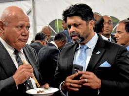 Fiji's Viliame Gavoka and AG Aiyaz Sayed-Khaiyum