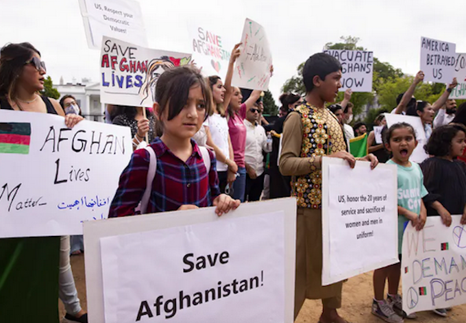 Women protest over Taliban rule
