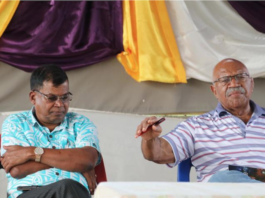 Leading opposition MP Biman Prasad and former prime minister Sitiveni Rabuka