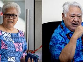 Samoan PM Fiame Naomi Mata'afa and former PM Tuilaepa