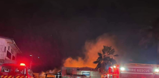 The fire at Tappoos warehouse