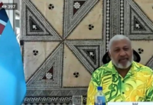 Incoming Pacific Islands Forum chair Voreqe Bainimarama 2021