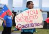 Protest over Samoa constitution 020821