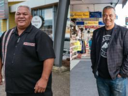 Auckland councillors Alf Flilipaina (left) and Fa'anana Efeso Collins