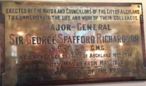 Auckland Town Hall plaque