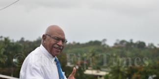 Former Fiji PM Sitiveni Rabuka