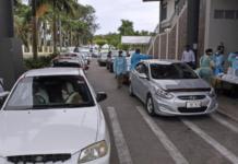 Suva's drive through vaccination centre