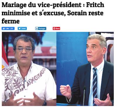 Tahitian media responses to celebrity wedding