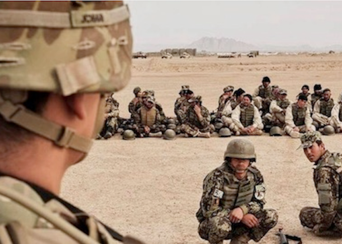 US trainers in Afghanistan