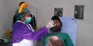 Papuan activist Victor Yeimo being examined in Jayapura hospital 270821