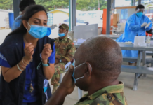 Covid-19 training for PNG Defence Force