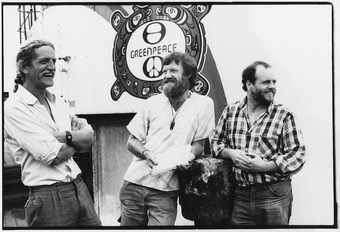 Davey Edward (right) witjh Henk Haazen and David Robie 1986