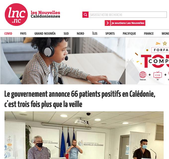 Les Nouvelles Calédoniennes reports 090921