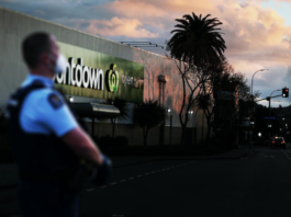 Police guard at LynnMall Countdown