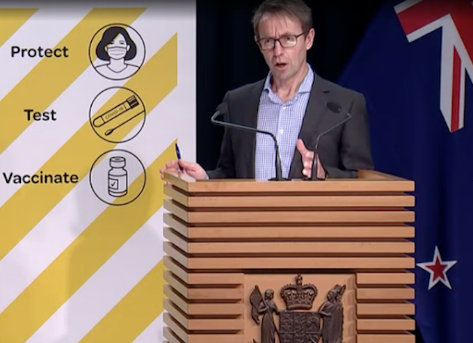 NZ's Director-General of Health Dr Ashley Bloomfield 050921