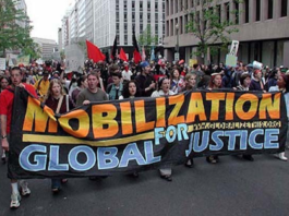 Activists protest against World Bank policies