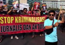 Jakarta protest against crimalisation of journalists