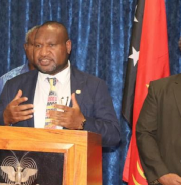 PNG PM James Marape with Foreign Minister Soroi Eoe