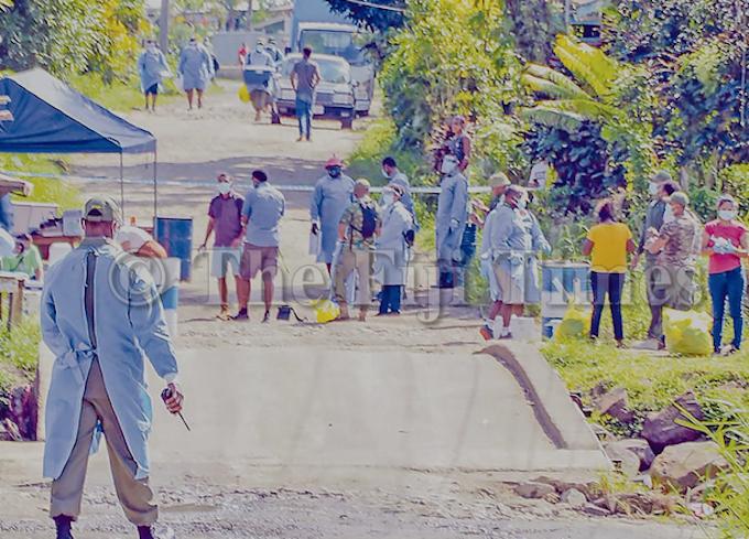 Fiji Ministry of Health medicFiji covid swab tests in Qauia, Lami