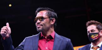 Filipino boxer-turned-politician Manny Pacquiao