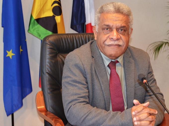 New Caledonian President Louis Mapou