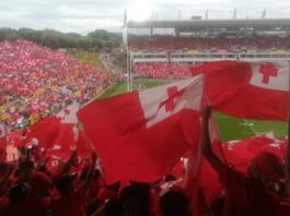 "Tongan RL ""sea of red"""
