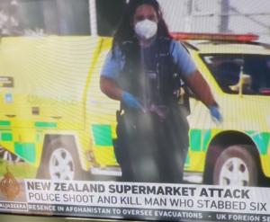 Al Jazeera reporting of the New Zealand supermarket stabbing