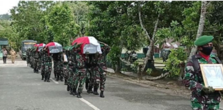 Burial for the Indonesian soldiers