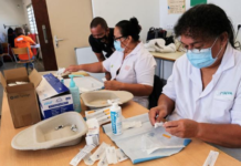 Magenta vaccination centre
