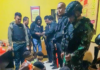 Papuans arrested and blindfolded in an Indonesian military crackdown in Maybrat Sept 2021