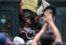 Arrested Papuan activists protest 30-09-2021